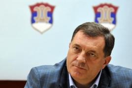 Turkey stops plane, prevents Bosnian Serb leader's trip to Armenia