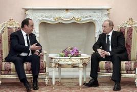 Путин и Олланд в Ереване обсудили «Мистрали», Украину, Ближний Восток и С-300 для Ирана