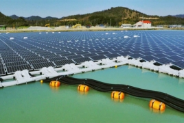Две гигантские плавучие солнечные электростации были построены в Японии