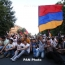 Police use water cannons to disperse electricity price hike rally in Yerevan