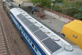 В Индии разрабатывают поезд на солнечных батареях