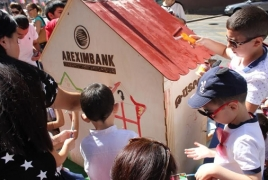В День независимости Армении для детей сотрудников Арэксимбанка провели конкурс «Армения - наш дом»