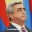 Президент Армении: Процесс международного признания Геноцида армян вышел на новый, более высокий уровень