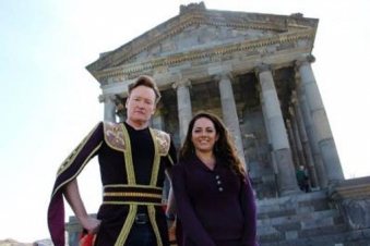Conan O'Brien 1st American late-night host to film in Armenia