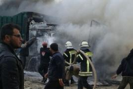 ՌԴ ՊՆ-ն հերքում է. Սիրիայում թուրքական ավտոշարասյուն չեն ռմբակոծել, այն մարդասիրական չէր
