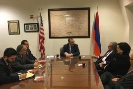 Глава МИД Арцаха обсуждает в США развитие карабахско-американского сотрудничества и ситуацию в зоне карабахского конфликта