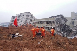 At least 91 missing after massive landslide in south of China