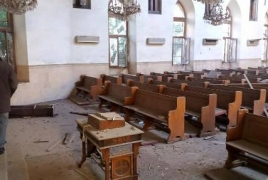 Terrorist missile attack damages Armenian Evangelical Church in Syria