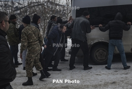 Из-за сильной метели часть дорог в Армении закрыта для автотранспорта