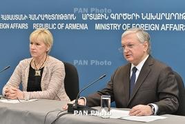 Визит главы МИД Швеции в Ереван: Карабахский конфликт, Восточное партнерство, налоги и Геноцид армян