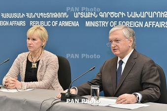 Swedish FM rules out military solution to Nagorno Karabakh conflict