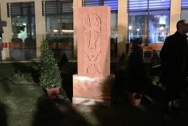 Khachkar commemorating Armenian Genocide unveiled in France
