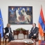 Armenia, EU talk Karabakh, Syrian refugee crisis