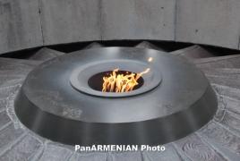 Russian parliament speaker visits Armenian Genocide memorial