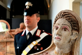 Italian, Swiss police recover looted artefacts stashed by British art thief