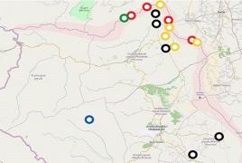 Интерактивная карта ситуации в Нагорном Карабахе