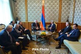 Armenian President, OSCE Minsk Group discuss Karabakh in Yerevan