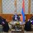 Президент Армении обсудил с Гарегином II и Арамом I ситуацию в Карабахе