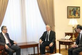 Министр иностранных дел Армении принял заместителя министра иностранных дел Казахстана