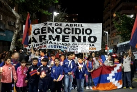 Uruguay rallies for Armenian Genocide 101st commemoration