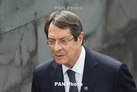 """Cyprus President says Armenian Genocide """"a disgrace to mankind"""""""