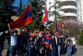 Rally staged outside Tbilisi's Turkish embassy despite Municipality ban