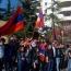 Несмотря на запрет мэрии Тбилиси, группа демонстрантов провела акцию протеста перед турецким посольством