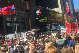 Thousands gather in Times Square to commemorate Genocide anniv.