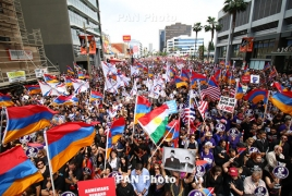 60,000 rally in Los Angeles to commemorate Armenian Genocide