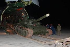 Выигранный в танковом биатлоне 2014 года призовой Т-90С прибыл в Армению