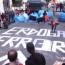 «Эрдоган - террорист»: Надпись протестующих перед турецким посольством в Риме