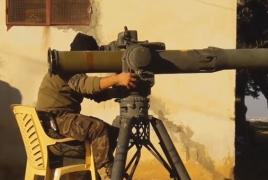 К югу от Алеппо сирийские повстанцы подбили танк правительственных сил Т-90А