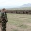 Президент НКР встретился с батальоном, сформированным из добровольцев