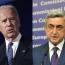 Armenia's Sargsyan, U.S.' Biden talk Karabakh by phone
