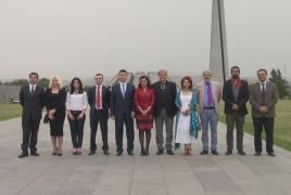 Vice president of Ecuador's parliament visits Armenian Genocide memorial