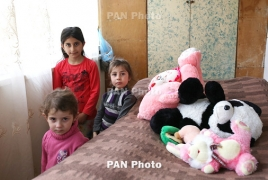 Karabakh children who fled war