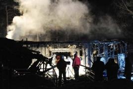 В лагере для беженцев в Германии вспыхнул пожар: 25 человек пострадали
