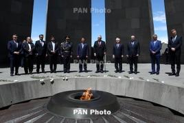 Czech Republic President visits Armenian Genocide memorial