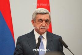 Президент Армении с рабочим визитом отправился в Нагорно-Карабахскую Республику
