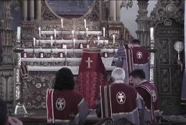 В самой древней армянской церкви Кесарии отслужили литургию