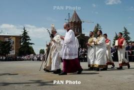 Հռոմի պապը Գյումրիում պատարագ է մատուցել.     Մասնակցել են հազարավոր մարդիկ (Թարմացված)