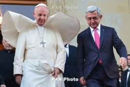 Саргсян: Позиция Папы поможет в вопросе признания Геноцида армян другими странами