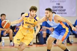 Сборная Армении по баскетболу проиграла во втором матче ЧЕ среди малых стран