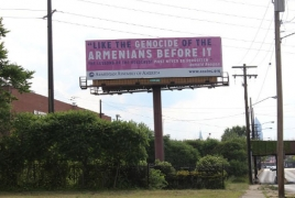 Genocide billboards welcome delegates to Republican Convention
