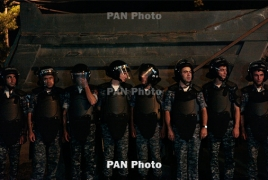 Shots heard near seized Yerevan police HQ; officers injured (Updating)