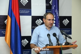 Никол Пашинян пообещал в 20:00 выступить на улице Хоренаци у захваченного полка ППС