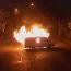 Gunmen burn police vehicle in seized patrol HQ in Yerevan