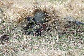 На российской военной базе в Армении проходят состязания снайперов
