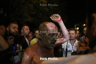 Self-immolation attempt amid Yerevan rally