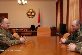 Президент НКР и министр обороны РА обсудили ряд вопросов армейского строительства
